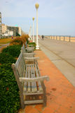 Have A Seat. Benches found on the boardwalk at Virginia Beach Royalty Free Stock Images