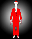 Have A Slender Man Christmas. The mythological Slenderman in Christmas attire Royalty Free Stock Images