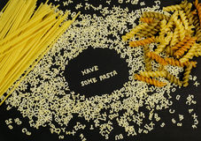 Have Some Pasta sign on black Stock Photos