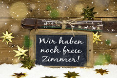 We have still free rooms: tourist information for german guests Royalty Free Stock Images