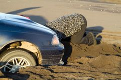 Have stuck in sand Royalty Free Stock Images