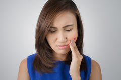 Have a toothache Stock Images