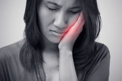 Have a toothache Stock Image