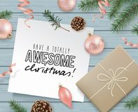 Have a totally awesome Christmas! Stock Images