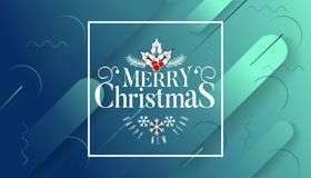 Have very Merry Christmas and Happy New Year we wish you lettering logo on gradient background, Design template with. Have a very Merry Christmas and Happy New royalty free illustration