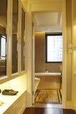 Have a wardrobe between bedroom and bathroom Royalty Free Stock Image
