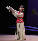 """Have the weight of the world on one's shoulders-Kunqu Opera """"the West Chamber"""" Royalty Free Stock Photo"""