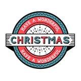 Have A Wonderful Christmas royalty free illustration