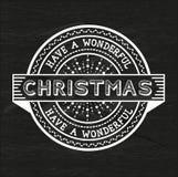 Have A Wonderful Christmas stock illustration