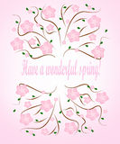 Have a wonderful spring card Royalty Free Stock Images