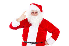 Have you been nice to your family?. Santa Claus asking: Have you been nice to your family Stock Image