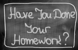 Have You Done Your Homework Concept Royalty Free Stock Photos