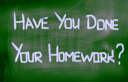Have You Done Your Homework Concept Royalty Free Stock Images