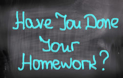 Have You Done Your Homework Concept Stock Photos
