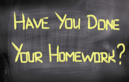 Have You Done Your Homework Concept Royalty Free Stock Image