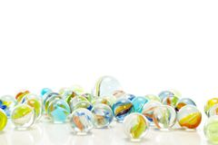 Have you ever played with marbles? Royalty Free Stock Image