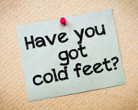 Have you got cold feet? Stock Image