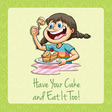 Have your cake and eat it Royalty Free Stock Images
