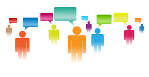 Have Your Say. Vector concept illustration of people figures expressing their opinions Royalty Free Stock Photo
