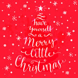 Have yourself a merry little Christmas. Whimsical Stock Images
