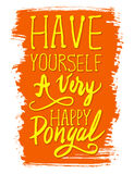 Have yourself a very happy Pongal handwritten poster Stock Photos