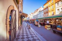 Havel marknad Havelske Trziste i Prague den gamla staden, Tjeckien royaltyfri fotografi