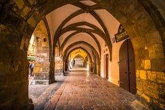 Havel marknad Havelske Trziste i Prague den gamla staden, Tjeckien royaltyfri foto