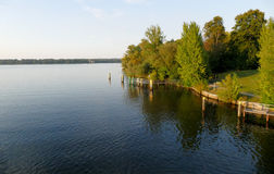 Havel river landscape at summer time Stock Photography