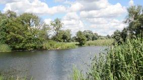 Havel rzeki krajobraz wzdłuż Havelradweg (Brandenburg Niemcy) (Havel roweru ścieżka) zbiory
