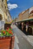 Havel' s-marknad Prague för republiktown för cesky tjeckisk krumlov medeltida gammal sikt royaltyfri fotografi