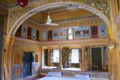 haveli,曼达瓦,印度的壁画 免版税库存照片