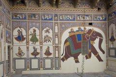 Haveli décoré dans Mandawa image libre de droits