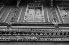 `-Haveli ` eller traditionellt arvhus i Ahmedabad Royaltyfri Foto