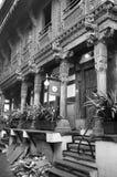 `-Haveli ` eller traditionellt arvhus i Ahmedabad Fotografering för Bildbyråer