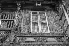 `-Haveli ` eller traditionellt arvhus i Ahmedabad Arkivfoton