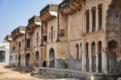 Haveli in Fatehpur, Rajasthan in Noord-India stock foto