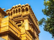 Haveli in Jaisalmer. Rajasthan, India royalty free stock image