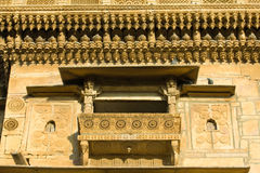 Haveli in Jaisalmer, Rajasthan, India. Palace of the Maharajah in Jaisalmer, the magnificent Golden City in the heart of Rajasthan (India), surrounded by the Stock Photo