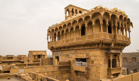 Haveli in Jaisalmer, Rajasthan. Roof top of haveli in Jaisalmer royalty free stock photos