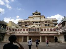 Haveli of the king of Jaipur royalty free stock photo