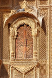 Haveli-privat herrgård i Indien. Jaisalmer stad Arkivbild