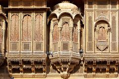 Haveli-private mansion in India. Jaisalmer city Stock Photography