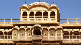 Haveli-private mansion in India. Jaisalmer city Royalty Free Stock Photography