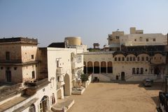 Haveli in Ruins. Old city with various buildings Stock Images