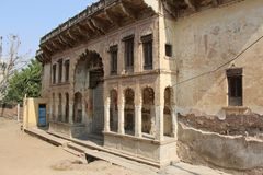 Haveli in Ruins. Old city with various buildings Royalty Free Stock Photo