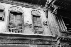 ` Haveli ` of Traditioneel Erfenishuis in Ahmedabad Stock Afbeeldingen