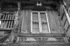 ` Haveli ` of Traditioneel Erfenishuis in Ahmedabad Stock Foto's