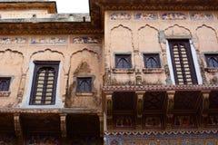 Haveli viejo Mandawa Rajasthán La India Foto de archivo