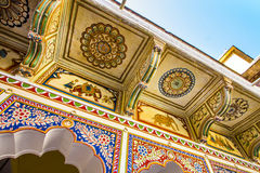 Haveli with wall paintings in Mandawa Royalty Free Stock Photography