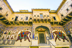 Haveli with wall paintings in Mandawa Stock Image